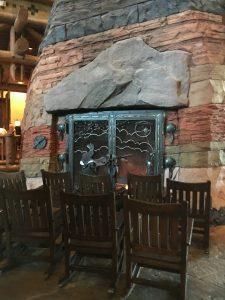 Walt Disney World Wilderness Lodge Lobby Fireplace