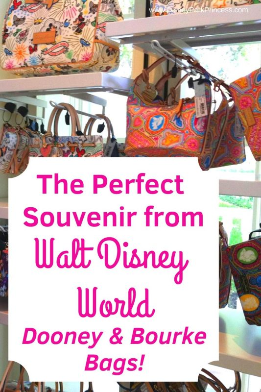 Dooney & Bourke Bags are the perfect souvenir for your Disney vacation! Learn why we love these bags. #disneyworld #souvenir #disneyland #dooneyandbourke