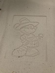 Farmer Mickey in Sand