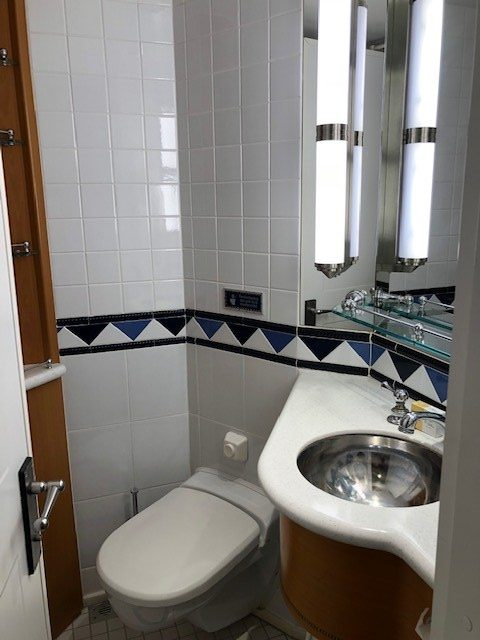 Half of the Split Bath in a Disney Cruise Line Stateroom