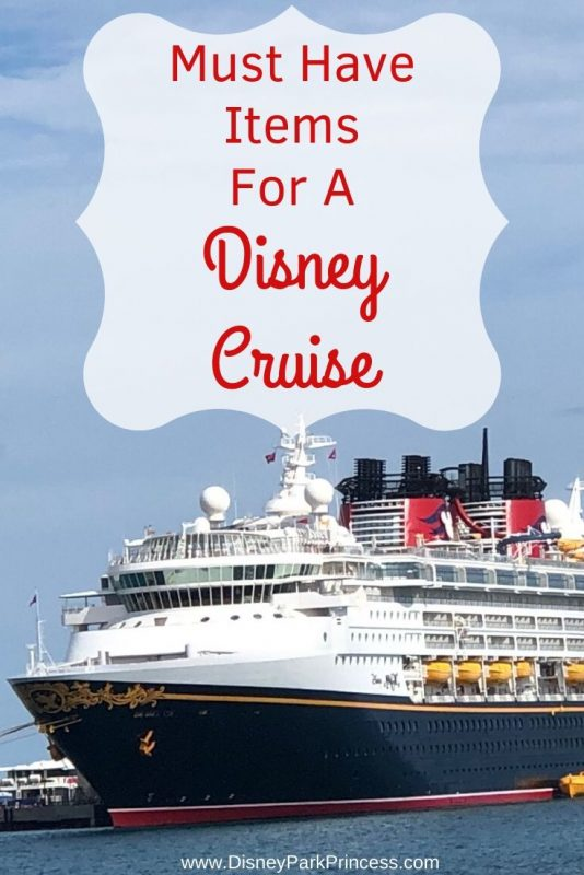 Planning a Disney Cruise? These are our Must Have Items that we cannot be without onboard! #dcl #disneycruise #disneycruisetips #disneycruisehacks