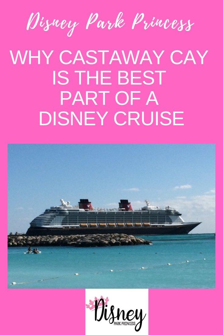 The Disney Dream cruise ship docked at Castaway Cay
