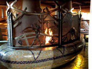 Fireplace Rainy Day