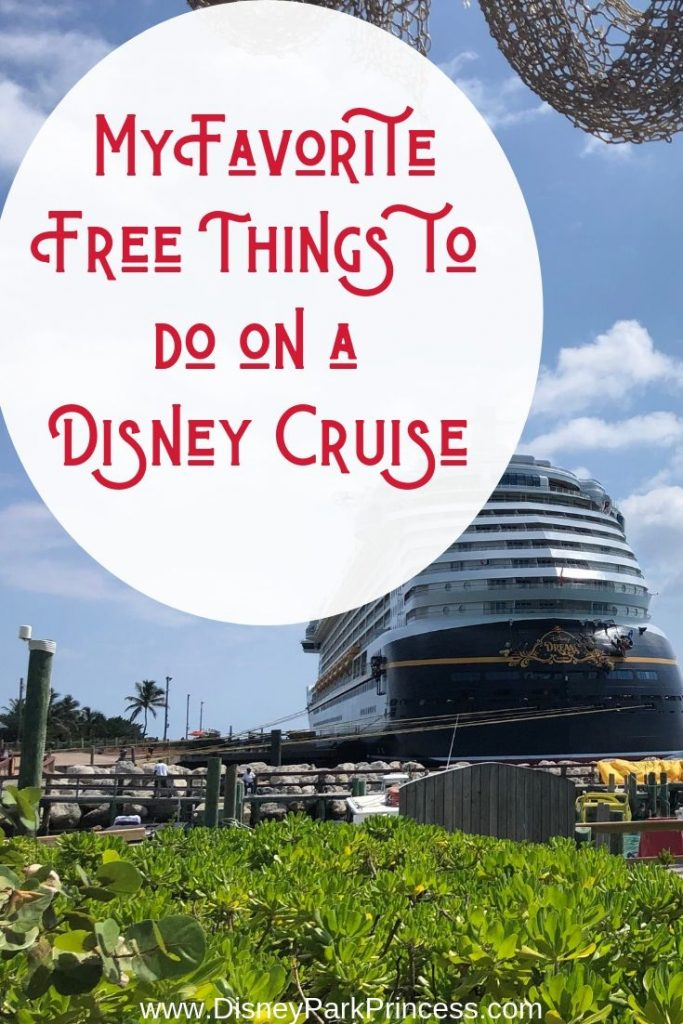 favorite free things to do on Disney Cruise