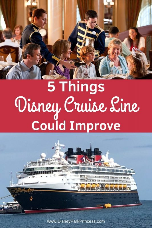 While we think Disney Cruise Line is the perfect family vacation, even we have to admit that Disney Cruise Line is not perfect! Here are five things we think Disney Cruise Line could improve! #disneycruise #disneycruiseline #familyvacation #cruisingtips