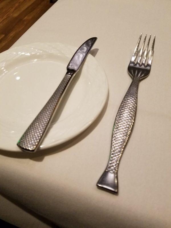 Flying Fish Cafe Silverware at Walt Disney World