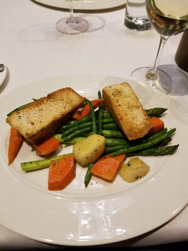 Tofu and vegetables at Flying Fish Eat Healthy