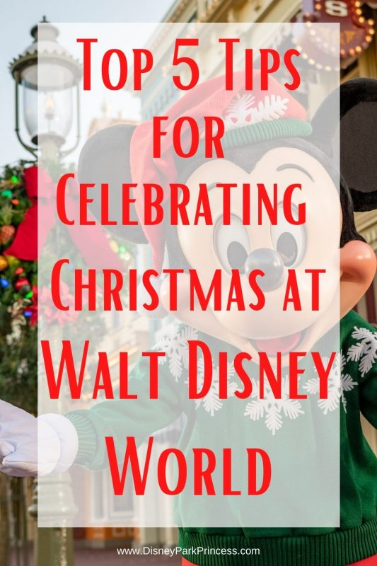 The week between Christmas and New Year's Eve is the busiest week of the year at Walt Disney World. But it can also be the most magical! Learn our Top 5 Tips for making the most of your vacation during this week. #disneyworld #waltdisneyworld #holiday #christmas #disneyholidays #travel #holidaytravel
