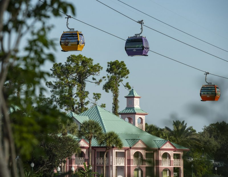 ruin Walt Disney World vacation Skyliner Service at Disney's Caribbean Beach Moderate Resort