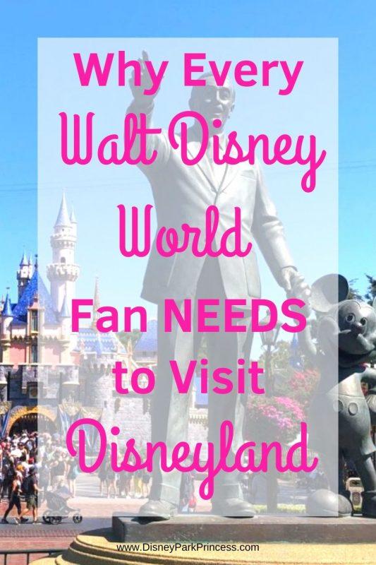 Even die-hard Walt Disney World fans should visit Disneyland at least once. Learn why we think Disneyland should be a must-do for ANY Disney fan! #disneyland #waltdisneyworld #waltdisney #anaheim #california #disneytips