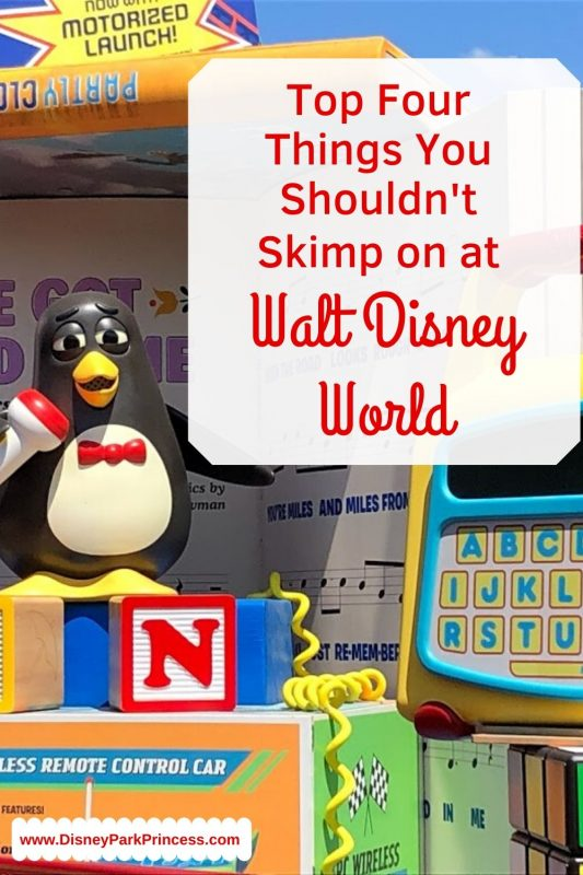 Walt Disney World vacations can be expensive. Here are our Top 4 things you absolutely should NOT skimp on! They are worth every penny. #waltdisneyworld #worthit #parkhopper #disneydiningplan #disneyworld #wdw