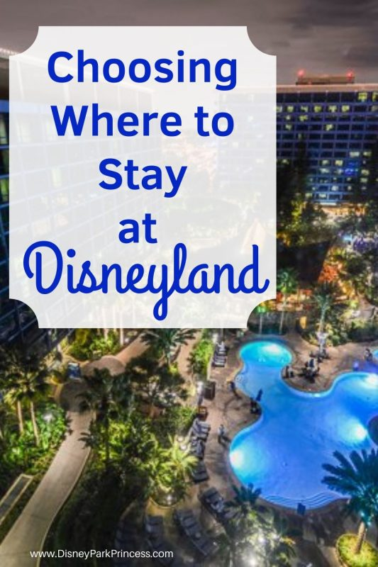 Choosing a hotel at Disneyland is an important part of the planning process! Learn the differences between off-site Good Neighbor hotels and the on-site Disneyland resorts. #disneyland #disneylandhotels #goodneighborhotels #grandcalifornian #paradisepier #disneylandhotel