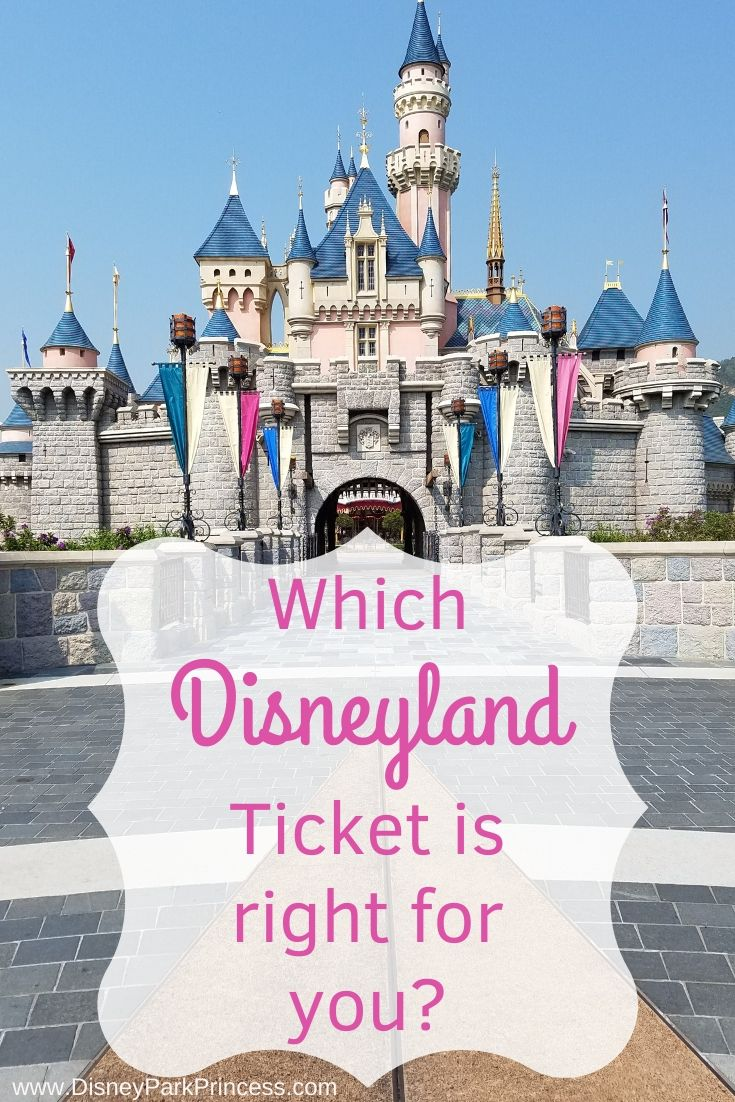 It's your first trip to Disneyland and there's so much to learn! Let's take a look at ticket options and which ticket works best for you! #disneyland #dl #tickets #parkhopper #maxpass