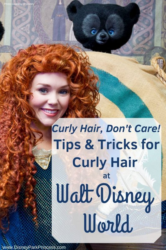 Humidity, Rain, Rides - these can all be nightmares for curly girls! Learn our top tips & tricks for rocking your naturally curly hair at Walt Disney World! #curlyhair #curlyhairtips #waltdisneyworld #travel #vacation