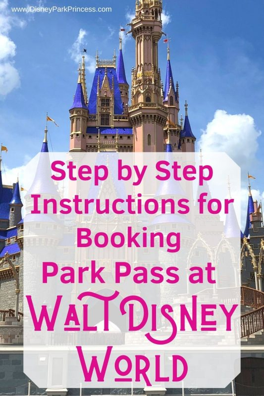 Learn how to book Park Pass reservations at Walt Disney World! Guests are now required to make a reservation to visit a theme park each day. Step by step instructions and video. #waltdisneyworld #disneyworld #wdw #parkpass #disneytips
