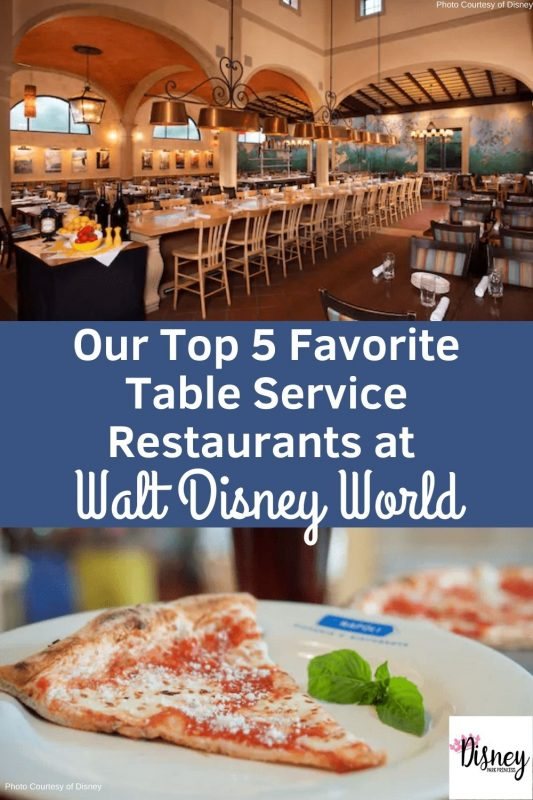 Our Top 5 Favorite Restaurants at Walt Disney World are sure to appeal to every diner. From Sushi to Pizza, there is something for everyone! #waltdisneyworld #tableservicerestaurants #disneydining #disneyworldtips #disneyworldplanning