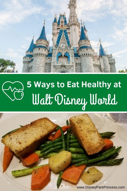 Eat Healthy at Walt Disney World?! Yes! Here are our Top 5 Favorite Ways to Eat Healthy at Walt Disney World. (So that you can enjoy the occasional treat!) #eathealthy #disneyworld #healthydisney #healthyfood #travel