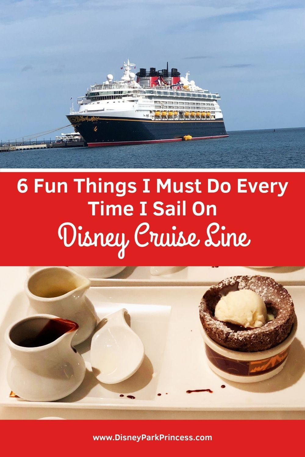 I love Disney Cruise Line! There are at least 6 things I must do on each and every Disney Cruise. #disneycruiseline #dcl #disney #travel