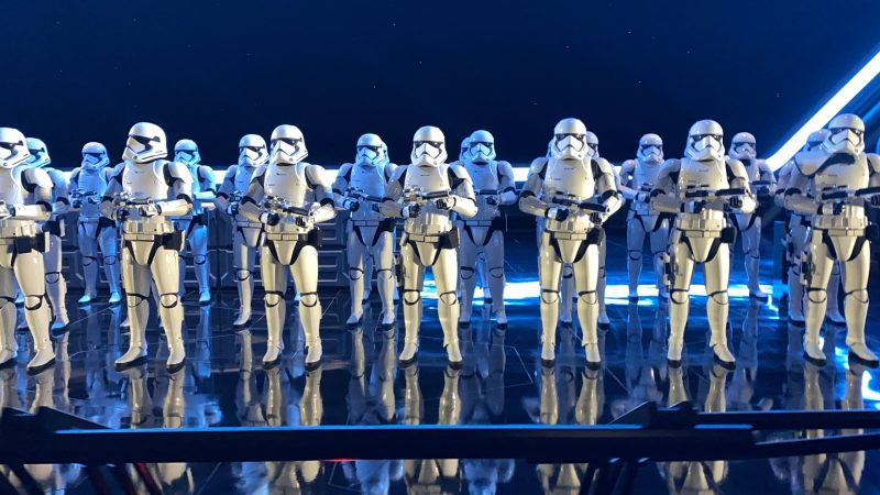 rise of the resistance storm troopers walt disney world hollywood studios