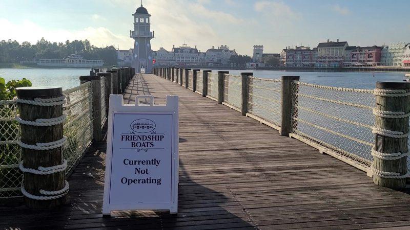 Boat Signage Walt Disney World During the Pandemic