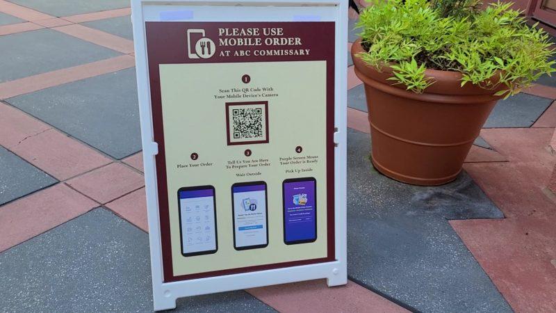 mobile order signage