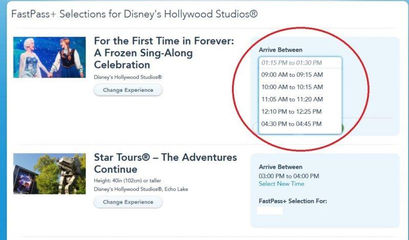 My Disney Experience FastPass Walt Disney World