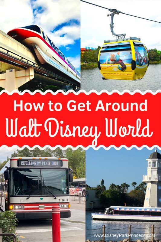 At over 40 square miles, Walt Disney World can be tricky to navigate! Learn our Top 7 Ways to Get Around Walt Disney World. From monorail to Skyliner and everything in between! #waltdisneyworld #disneytips #disneyworld #disneyworldplanning #disneymonorail #disneyskyliner #gettingarounddisneyworld