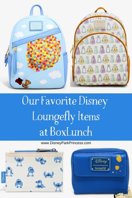 You can spot Loungefly backpacks all over the Disney parks! Check out our favorite Loungefly bags available at BoxLunch. #loungefly #disney #parkbag #disneyparkstouringtips