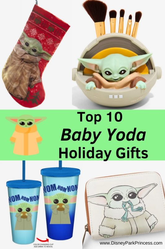 "We are all obsessed with Baby Yoda! Here are our top 10 Baby Yoda Holiday Gifts for everyone who loves ""The Mandalorian."""