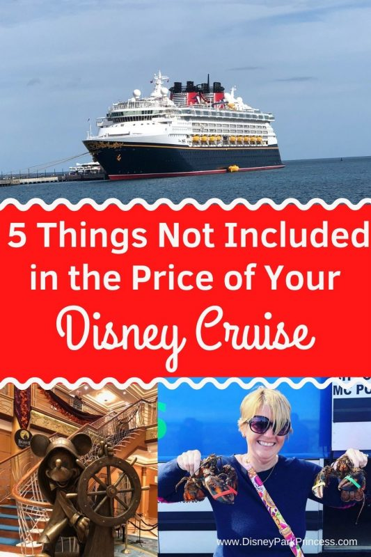While there is much more included in the cost of your Disney Cruise than is not included, here are several things people think are included but are not. #disney #disneycruiseline #dcl