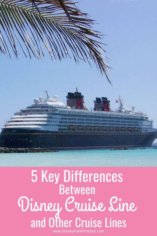 What makes Disney Cruise Line stand apart from other cruise lines such as Royal Caribbean or Carnival? Here are several differences in the major cruise lines.
