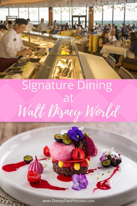 Signature Dining at Walt Disney World has restaurants with everything from friend chicken to Wagyu beef! Whether you are looking for a special family celebration, or an intimate romantic meal, there is a Signature Dining restaurant at Walt Disney World that is perfect for your occasion.
