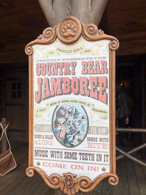 country bear jamboree magic kingdom attractions walt disney world