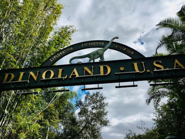 Walt Disney World Disney's Animal Kingdom Dinoland USA entrance Sign attractions I skip