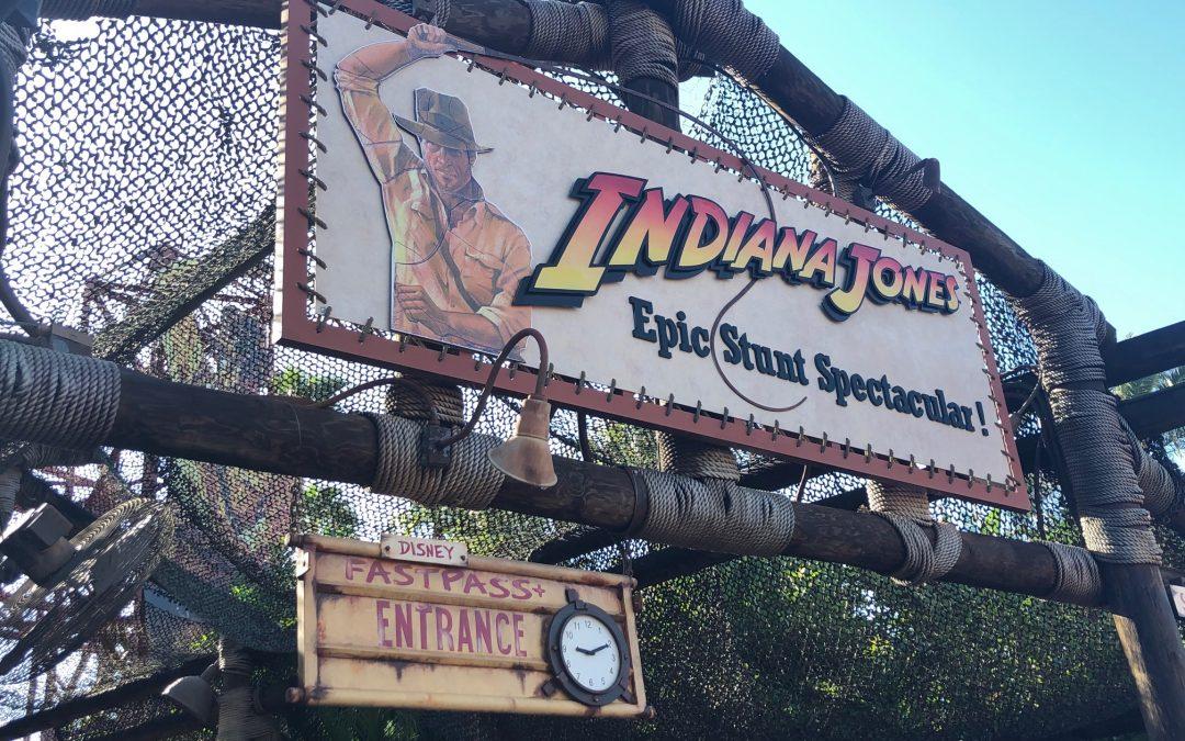 Disney Hollywood Studios Indiana Jones Stunt Show Sign