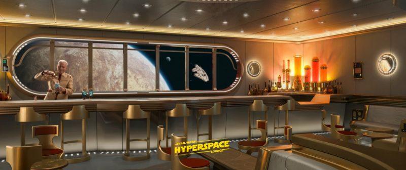 Disney Cruise Line Wish Star Wars Hyperspace Lounge