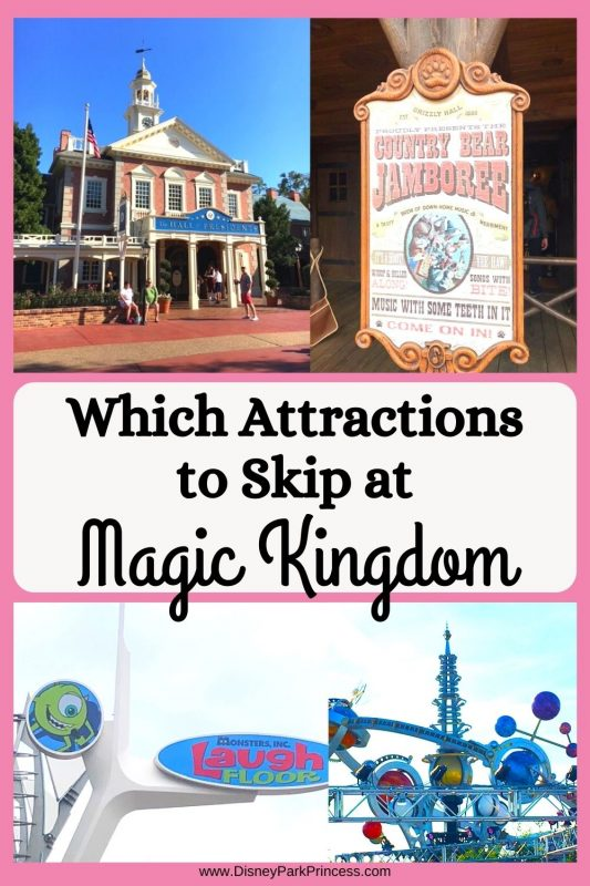 """Not every ride is a """"must do!"""" Learn which attractions I skip at Magic Kingdom in Walt Disney World. Do you agree with this list?!"""
