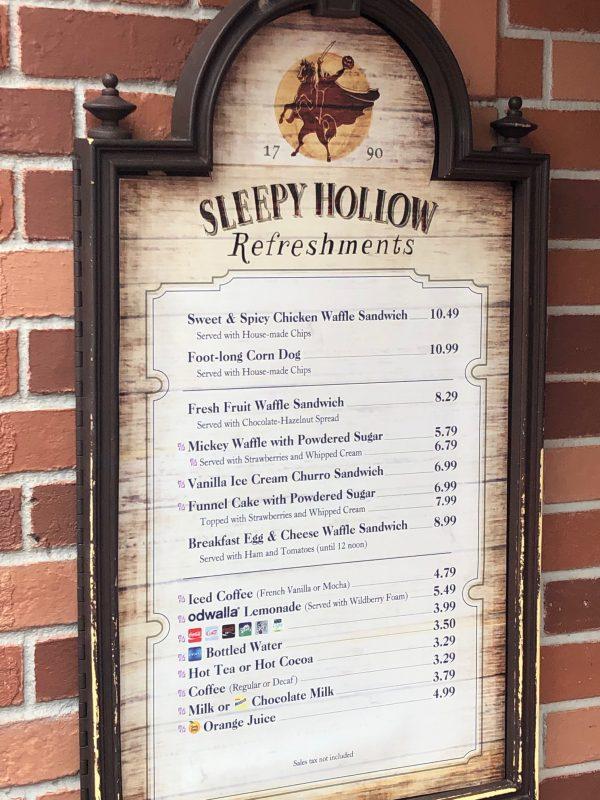 Sleepy Hollow Magic Kingdom Favorite Things to Eat
