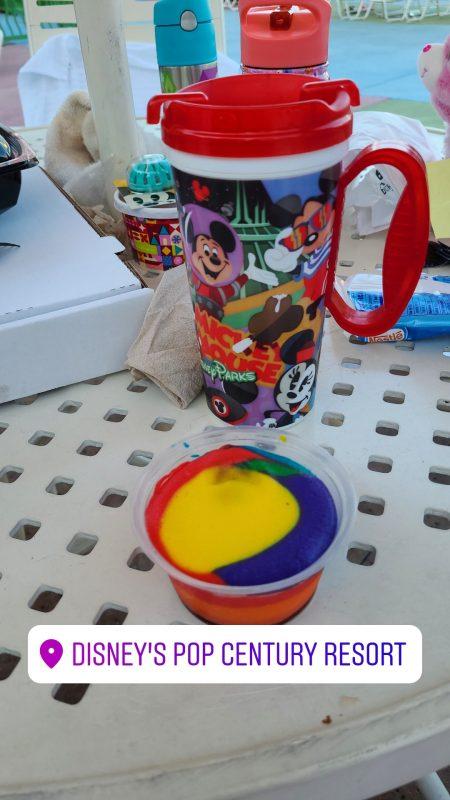 Pop Century Walt Disney World Resort Tie Dye Cheesecake Favorite Things to Eat