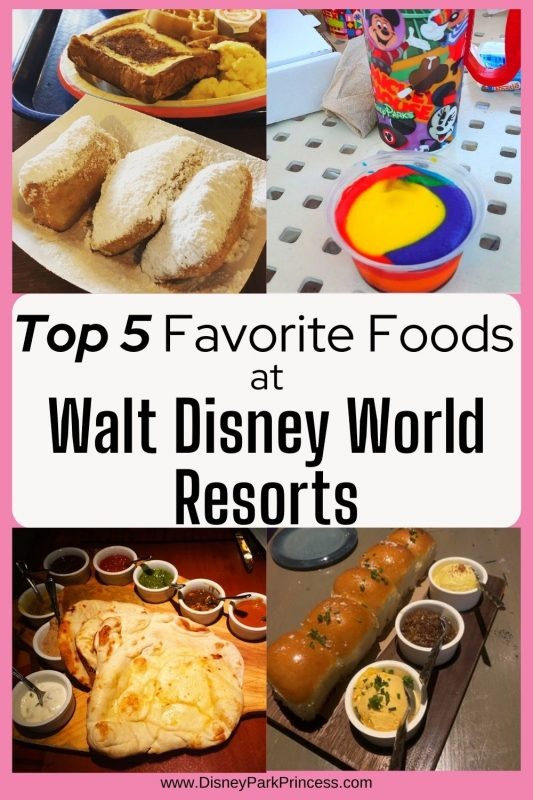 Some of the best food at Walt Disney World can be found at the resort hotels! Here are my Top 5 Favorite Things to Eat at Walt Disney World Resorts!